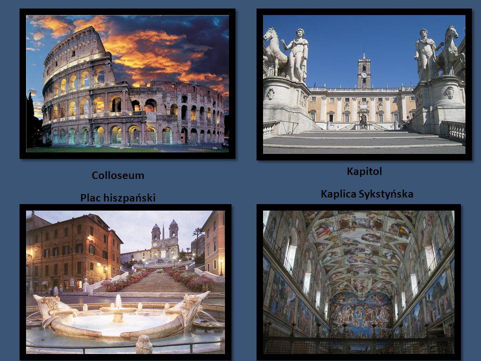 Kapitol Colloseum Kaplica Sykstyńska Plac hiszpański