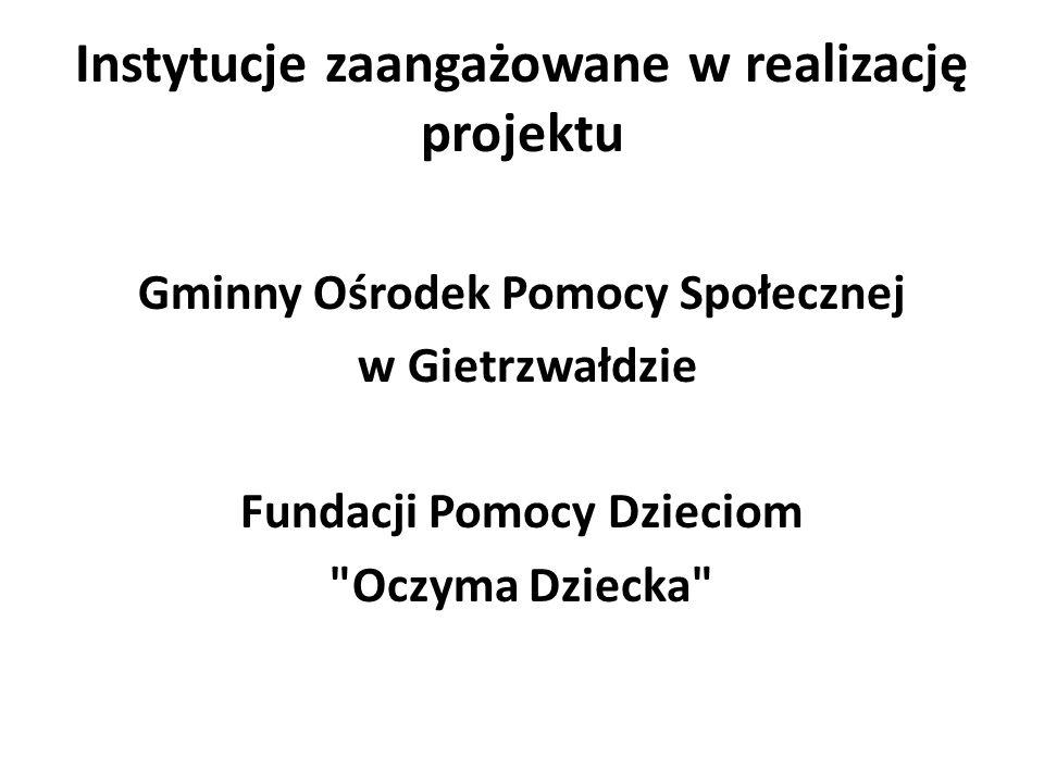 Instytucje zaangażowane w realizację projektu