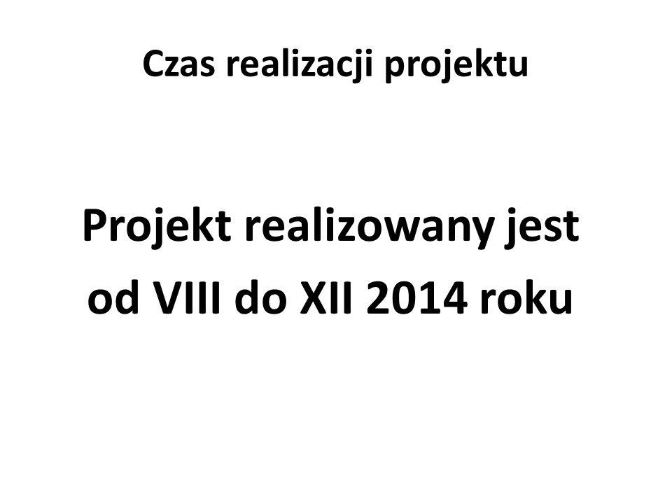 Czas realizacji projektu