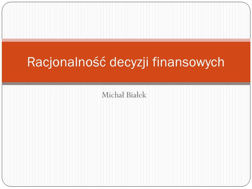 Racjonalność decyzji finansowych