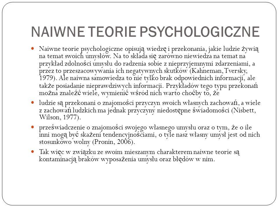 Naiwne teorie psychologiczne