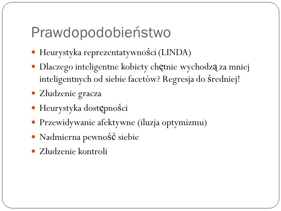 Prawdopodobieństwo Heurystyka reprezentatywności (LINDA)
