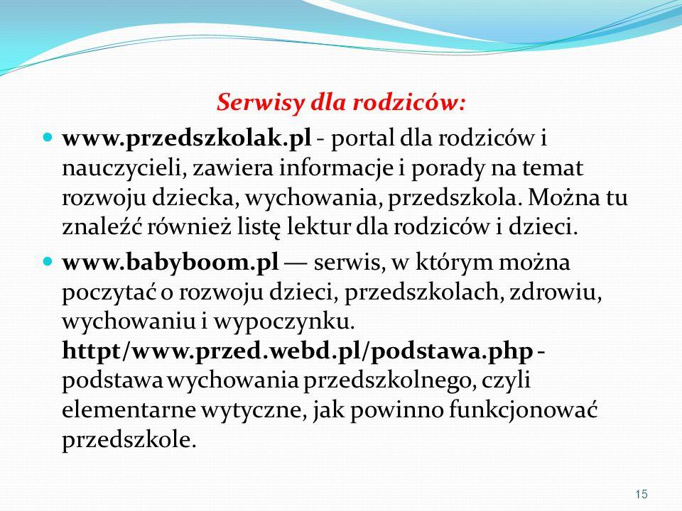 Serwisy dla rodziców: