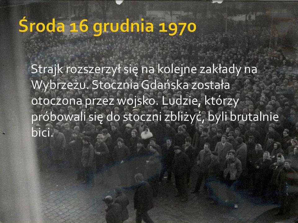 Środa 16 grudnia 1970