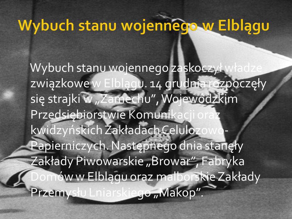 Wybuch stanu wojennego w Elblągu
