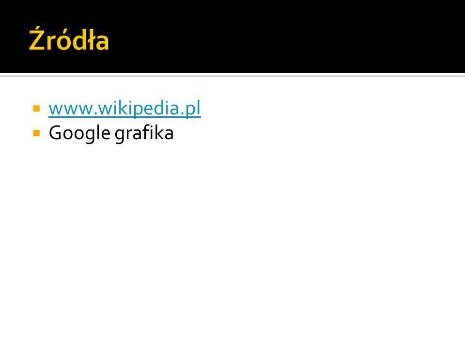 Źródła www.wikipedia.pl Google grafika