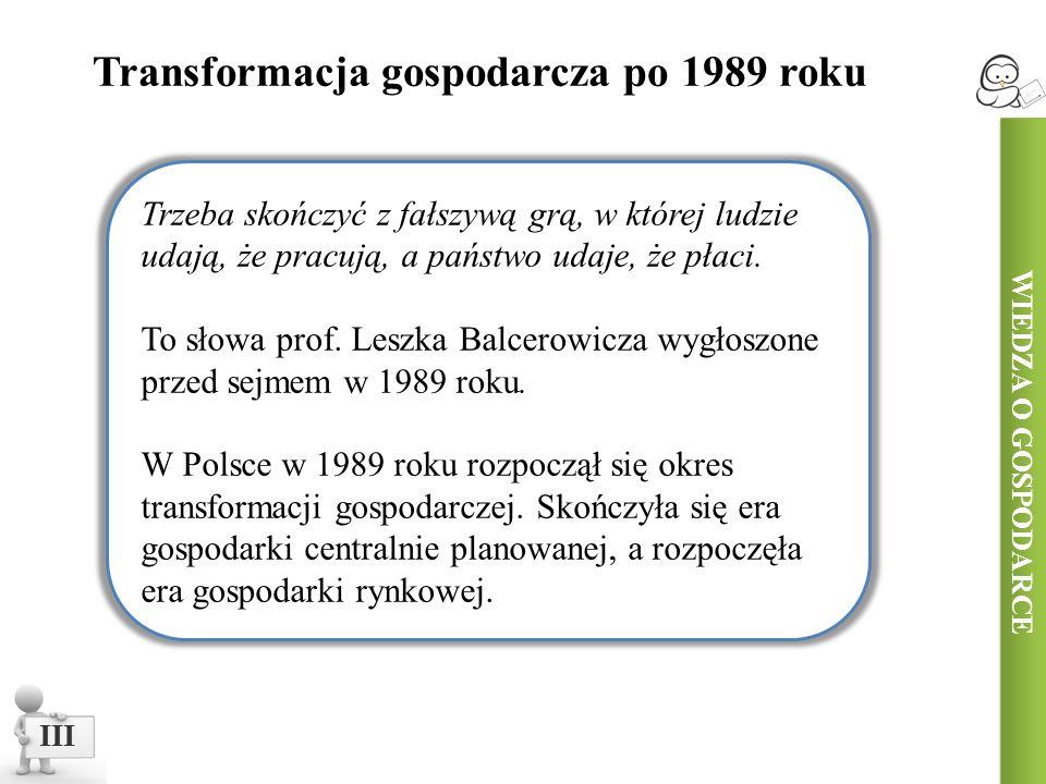 Transformacja gospodarcza po 1989 roku