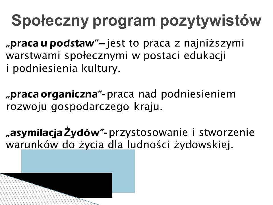 Społeczny program pozytywistów