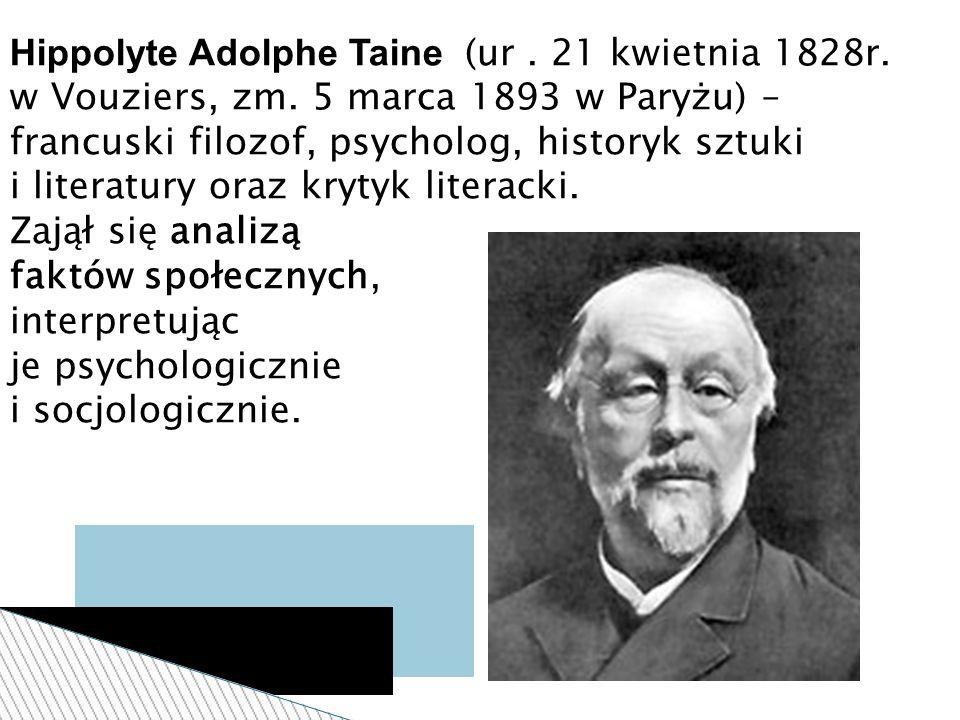 Hippolyte Adolphe Taine (ur. 21 kwietnia 1828r. w Vouziers, zm