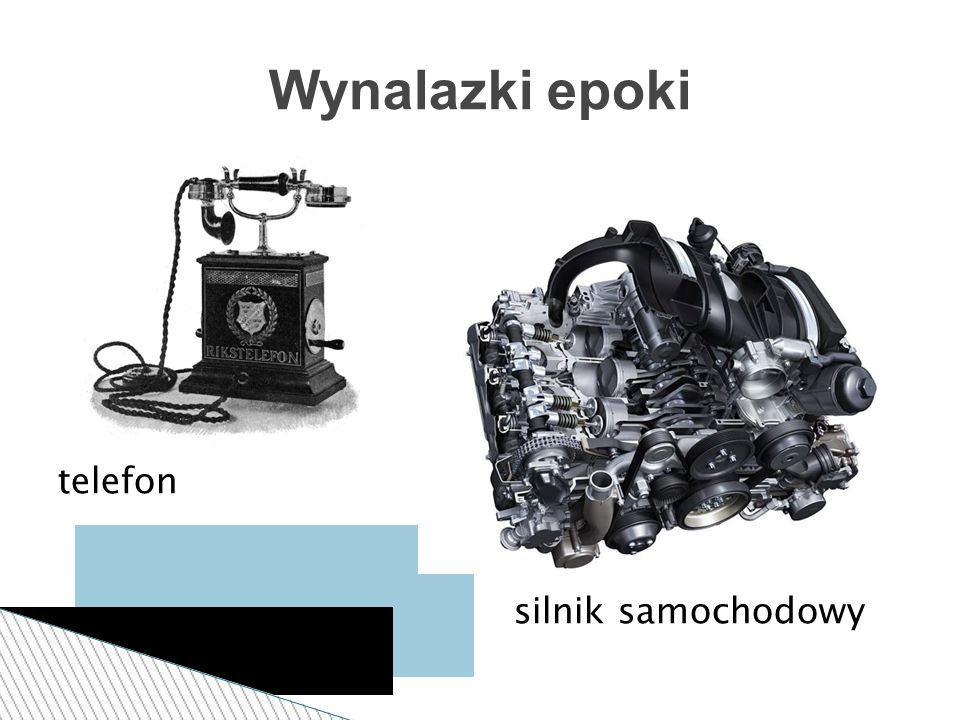 Wynalazki epoki telefon silnik samochodowy
