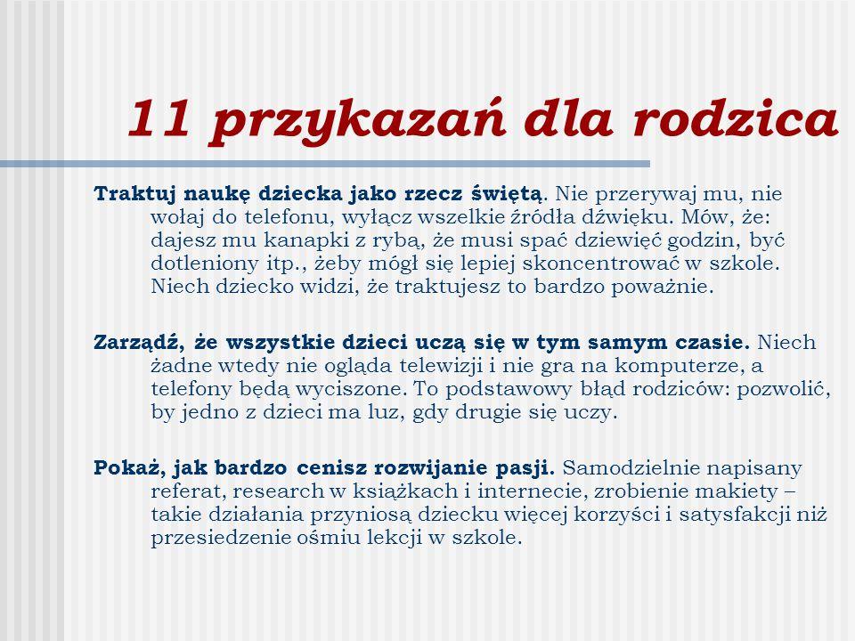11 przykazań dla rodzica