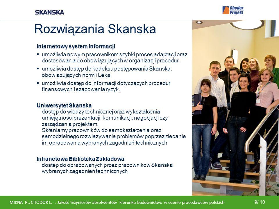 Rozwiązania Skanska Internetowy system informacji