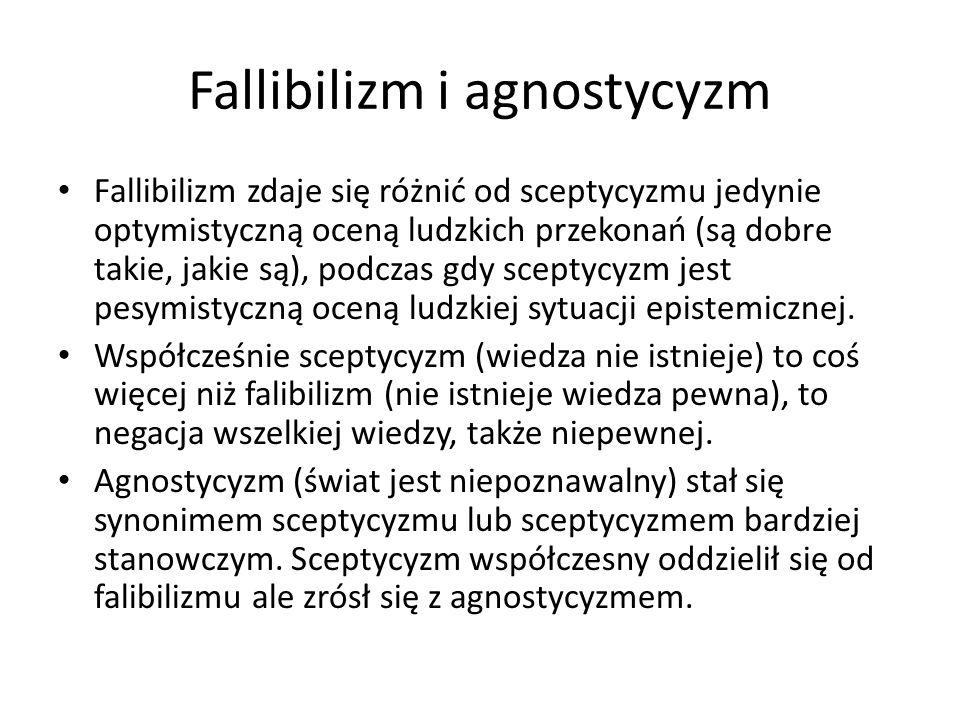 Fallibilizm i agnostycyzm
