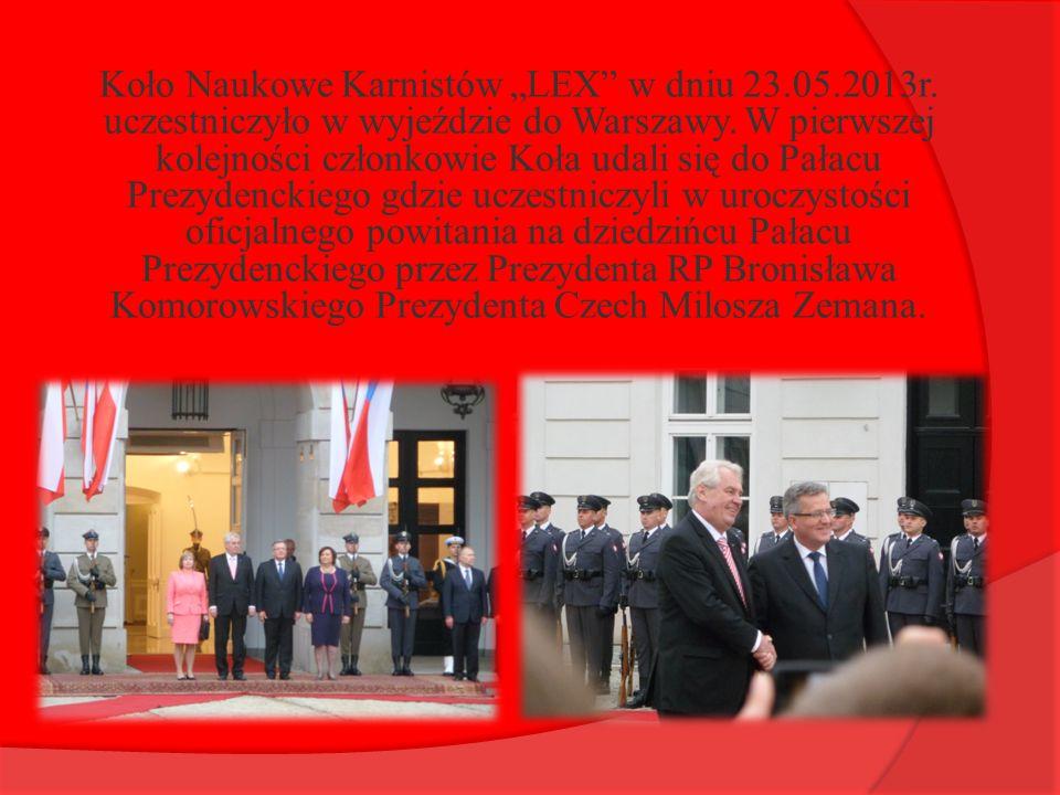 """Koło Naukowe Karnistów """"LEX w dniu 23. 05. 2013r"""