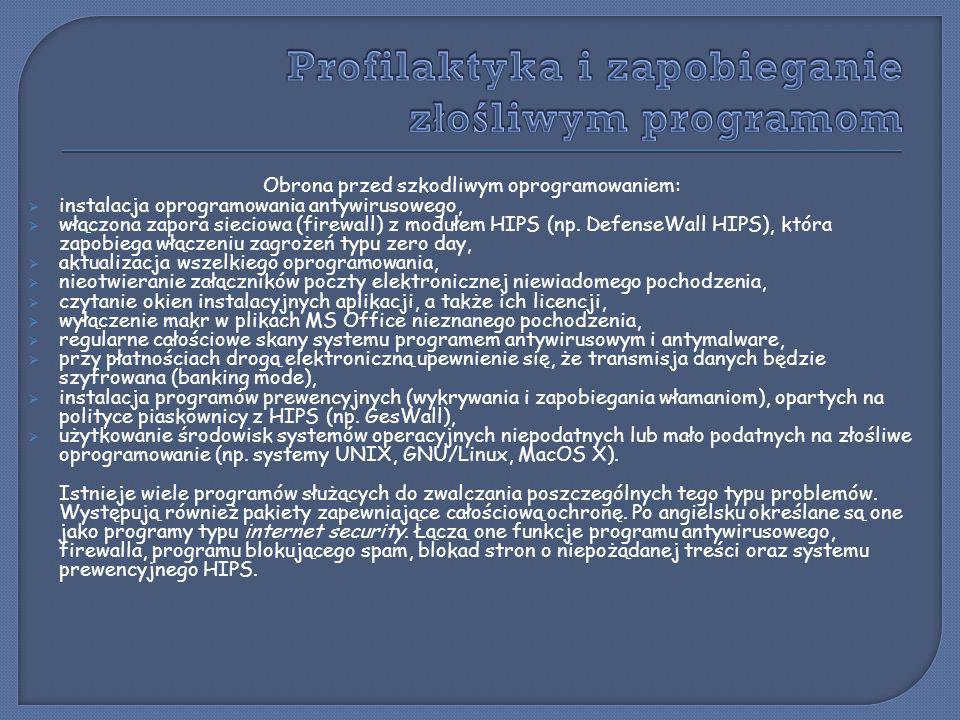 Profilaktyka i zapobieganie złośliwym programom