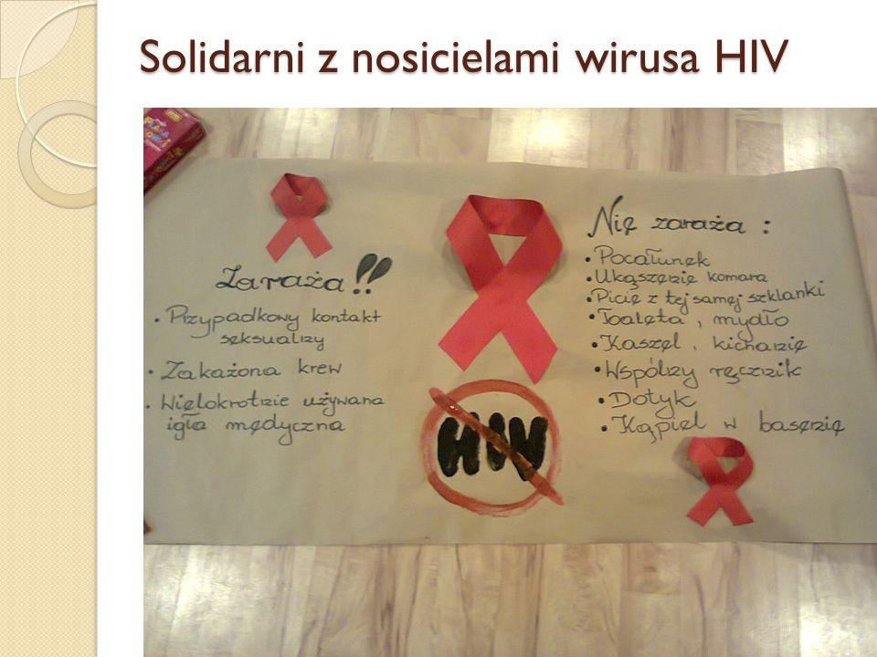 Solidarni z nosicielami wirusa HIV