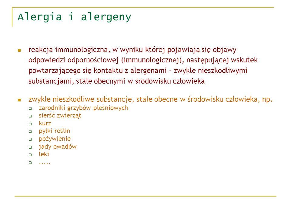 Alergia i alergeny