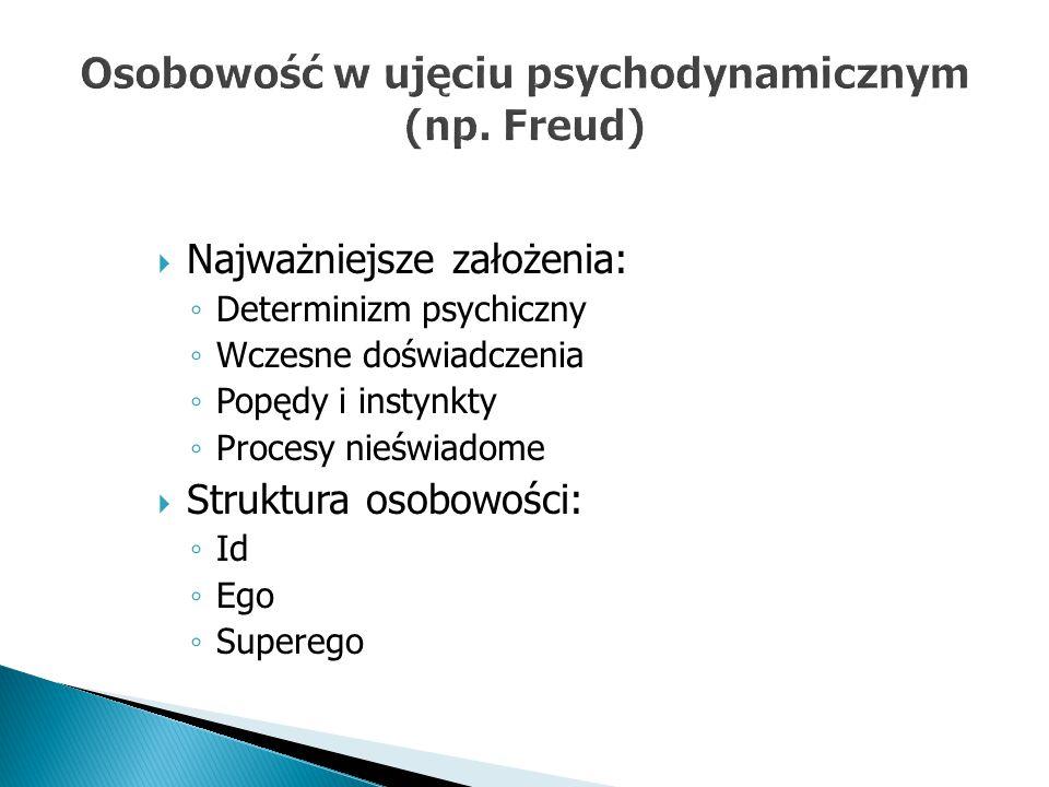 Osobowość w ujęciu psychodynamicznym (np. Freud)