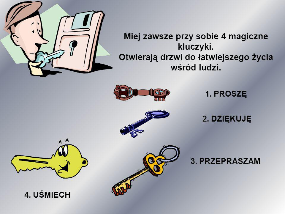 Miej zawsze przy sobie 4 magiczne kluczyki.