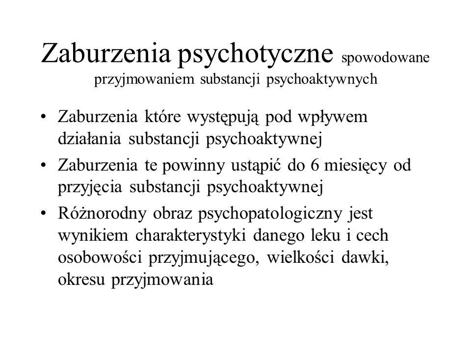 Zaburzenia psychotyczne spowodowane przyjmowaniem substancji psychoaktywnych