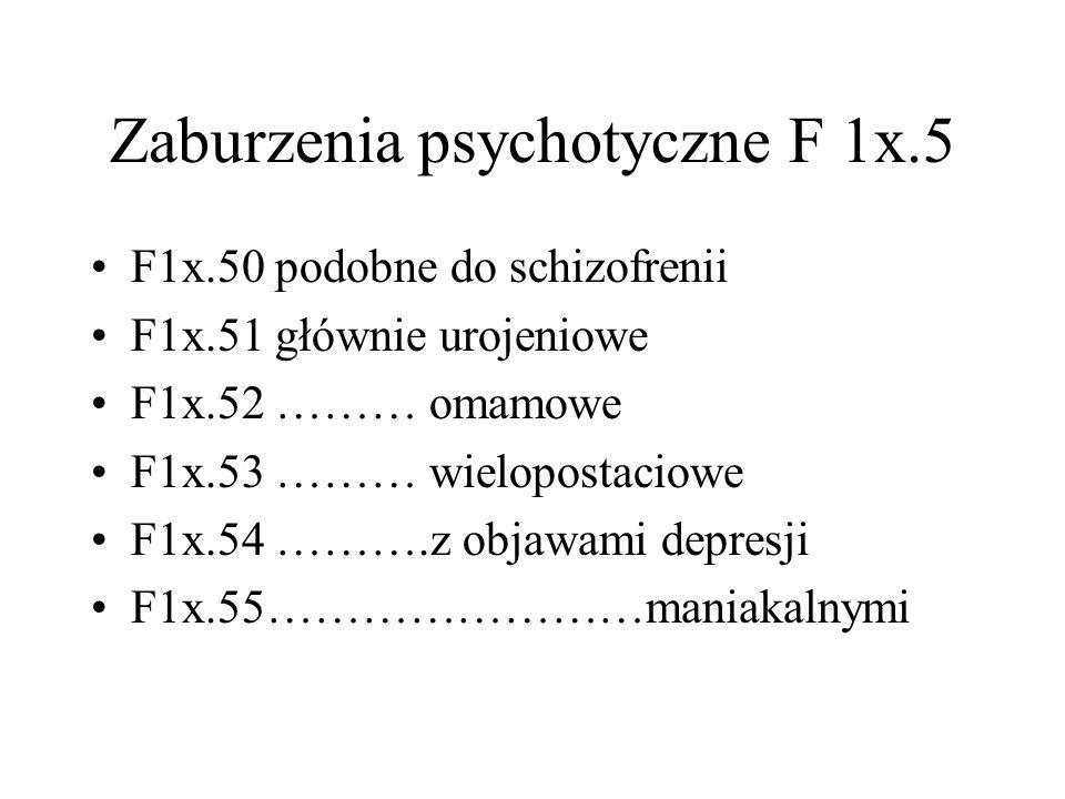 Zaburzenia psychotyczne F 1x.5