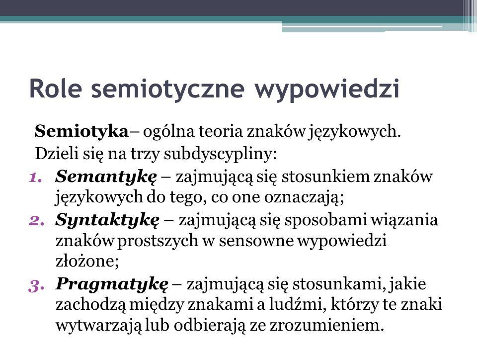 Role semiotyczne wypowiedzi