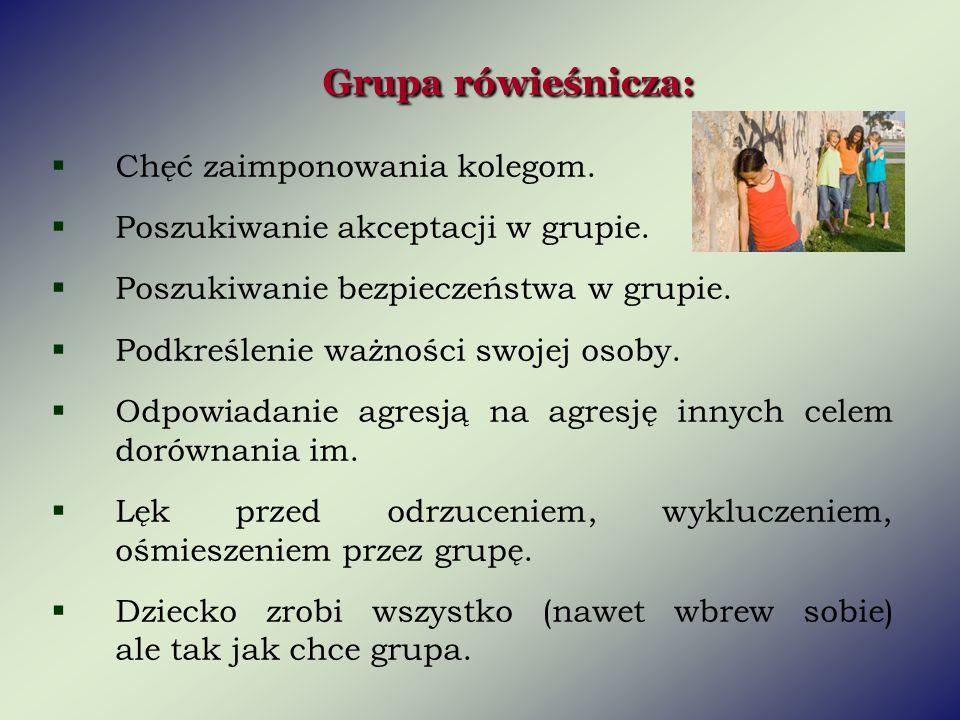 Grupa rówieśnicza: Chęć zaimponowania kolegom.