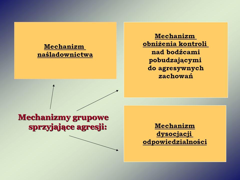 Mechanizmy grupowe sprzyjające agresji: