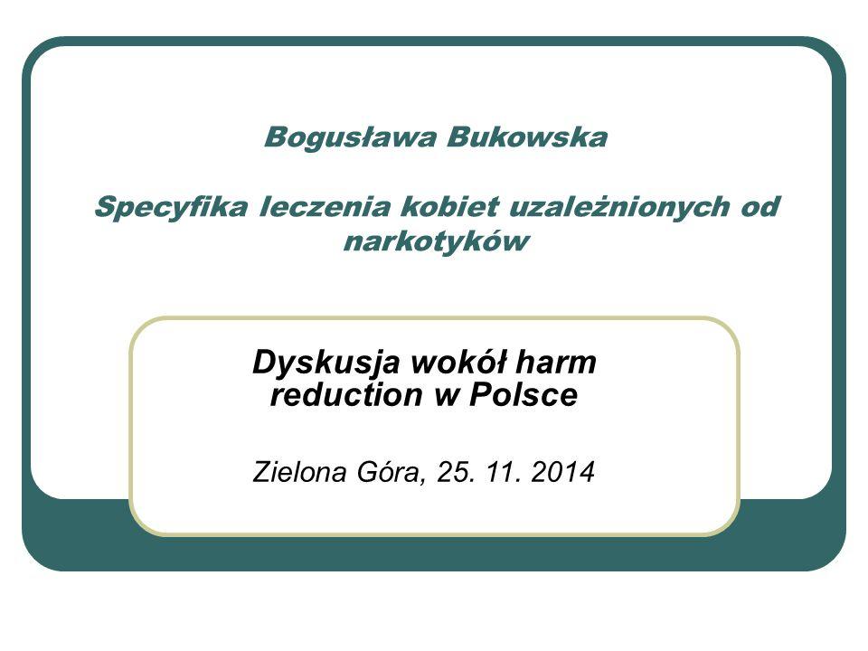 Dyskusja wokół harm reduction w Polsce Zielona Góra, 25. 11. 2014