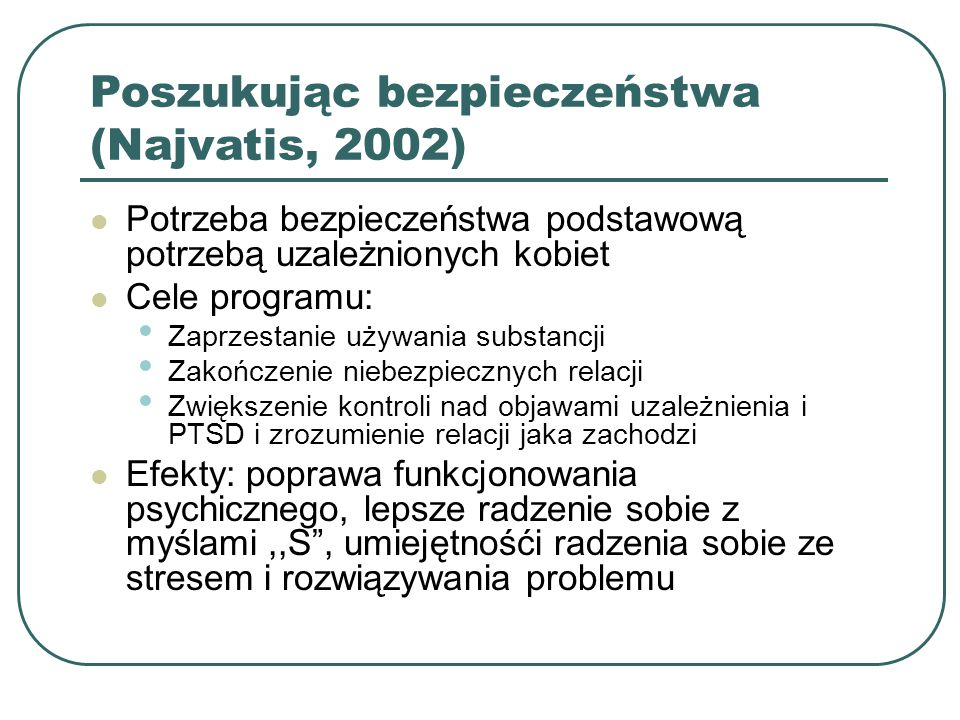 Poszukując bezpieczeństwa (Najvatis, 2002)
