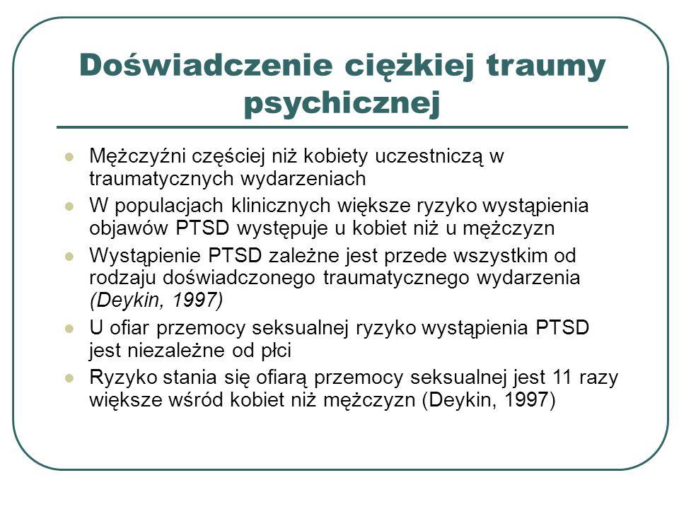 Doświadczenie ciężkiej traumy psychicznej