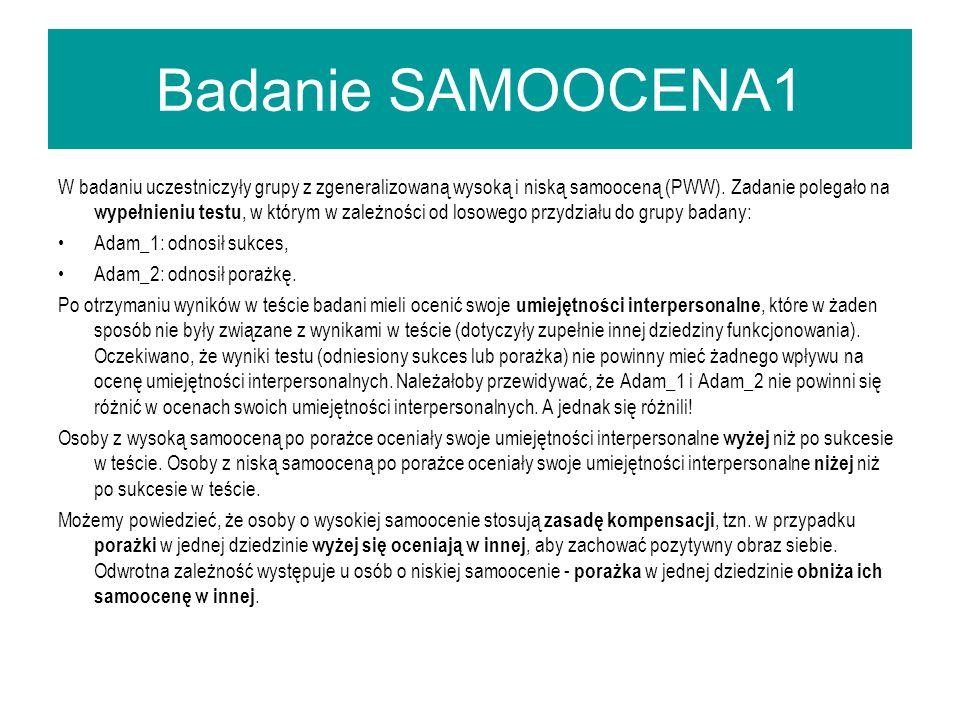 Badanie SAMOOCENA1