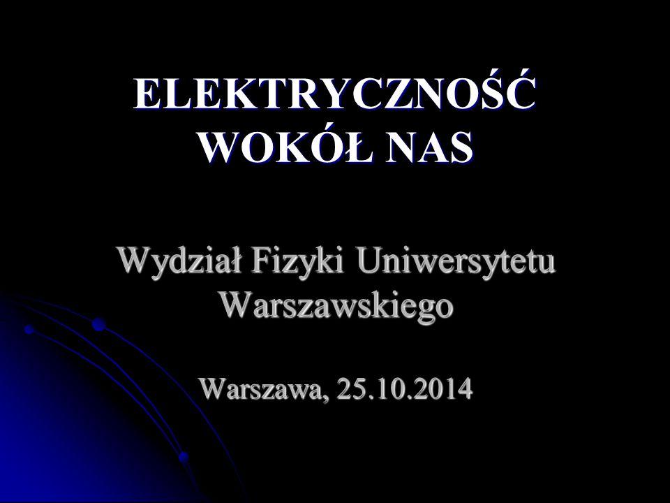 Wydział Fizyki Uniwersytetu Warszawskiego Warszawa, 25.10.2014