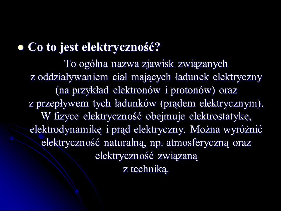 Co to jest elektryczność