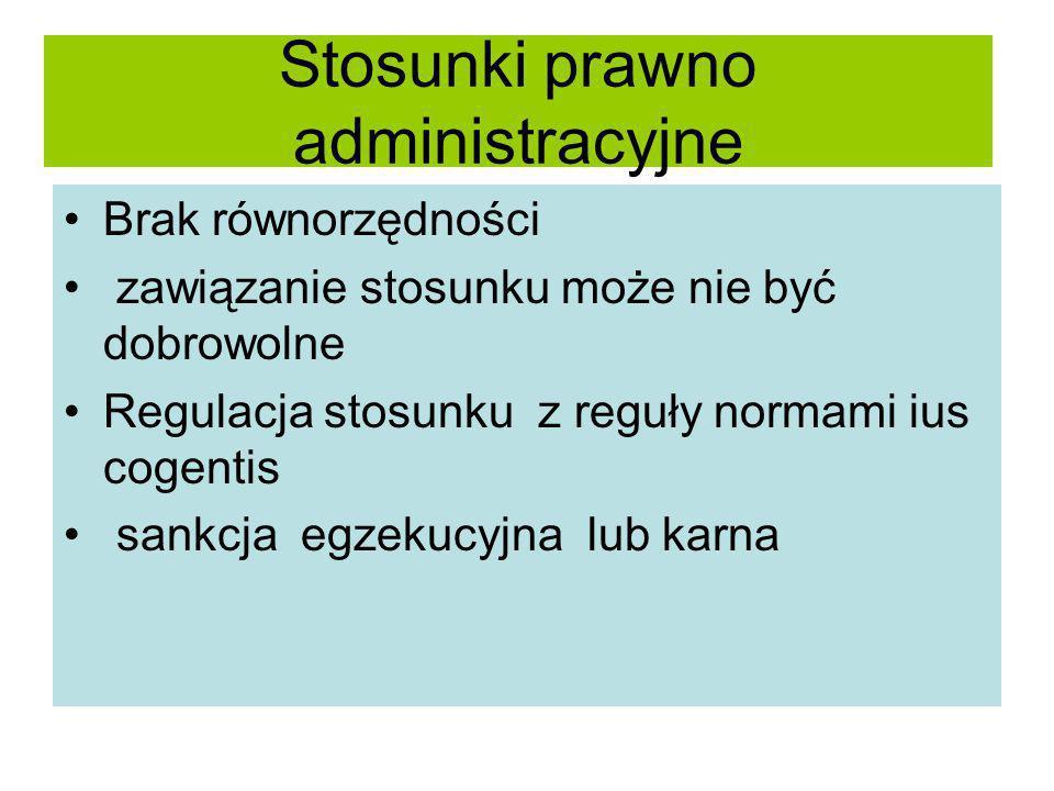 Stosunki prawno administracyjne