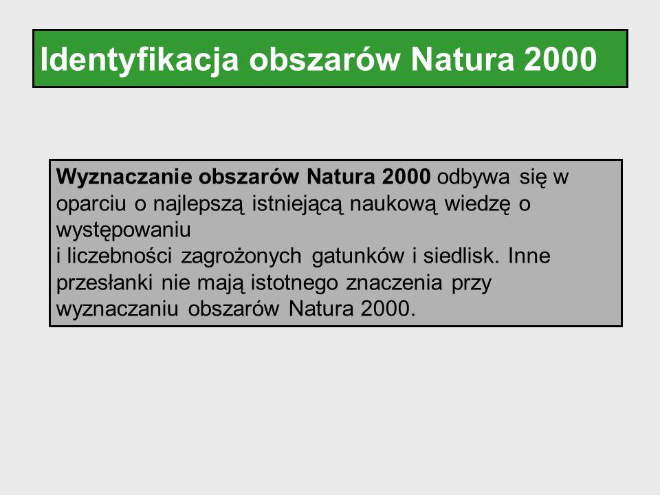 Identyfikacja obszarów Natura 2000