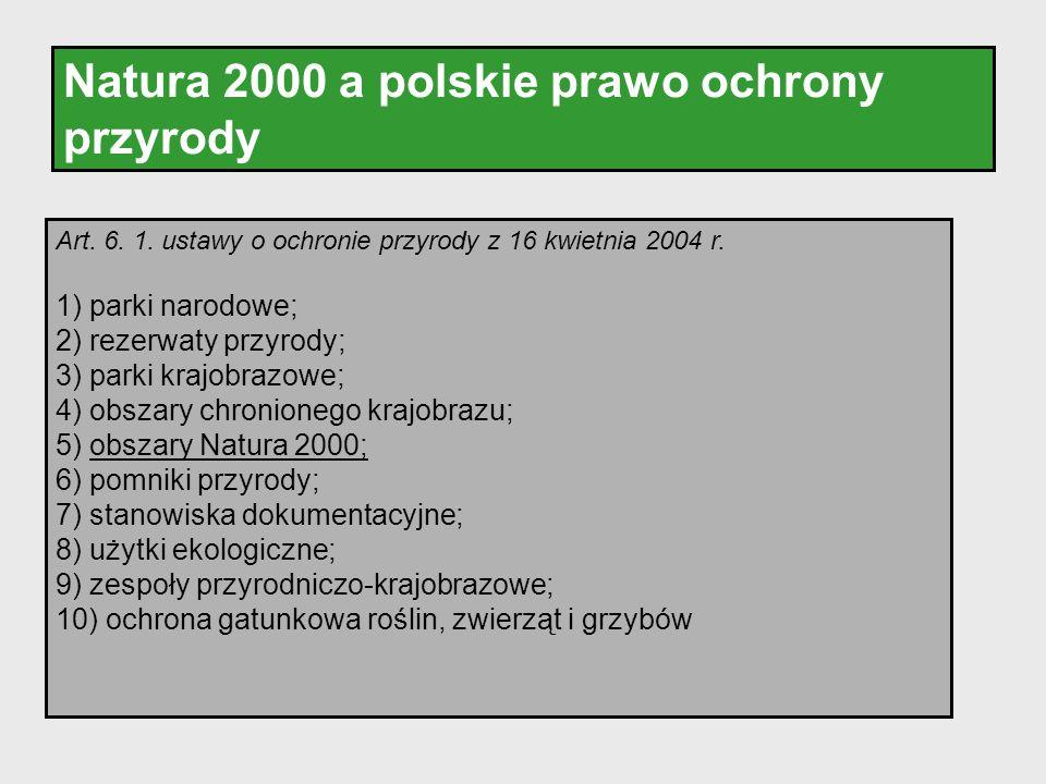 Natura 2000 a polskie prawo ochrony przyrody