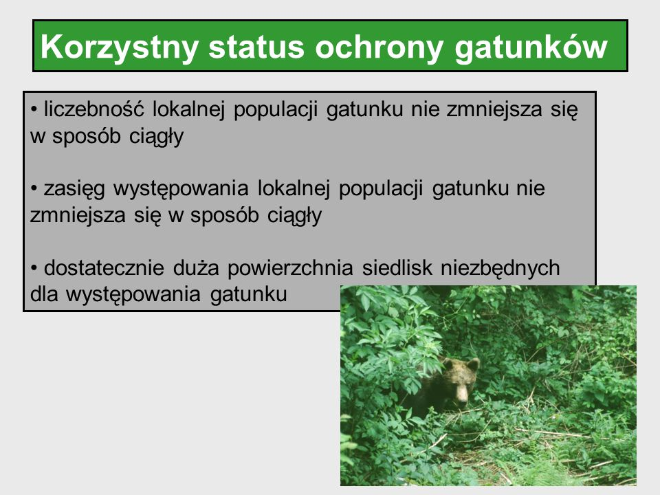 Korzystny status ochrony gatunków