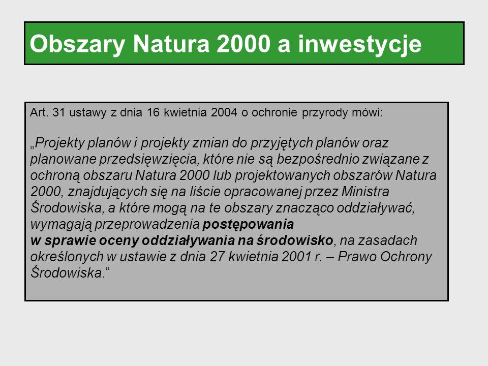Obszary Natura 2000 a inwestycje