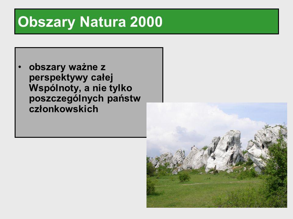 Obszary Natura 2000 obszary ważne z perspektywy całej Wspólnoty, a nie tylko poszczególnych państw członkowskich.