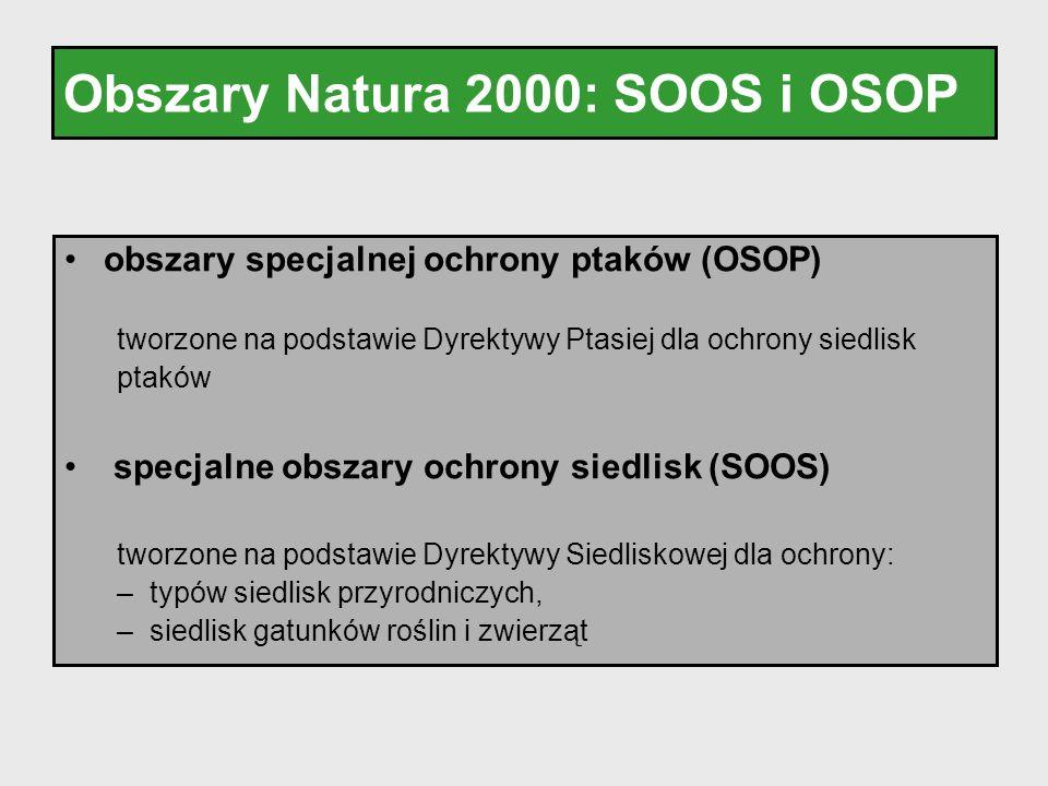 Obszary Natura 2000: SOOS i OSOP