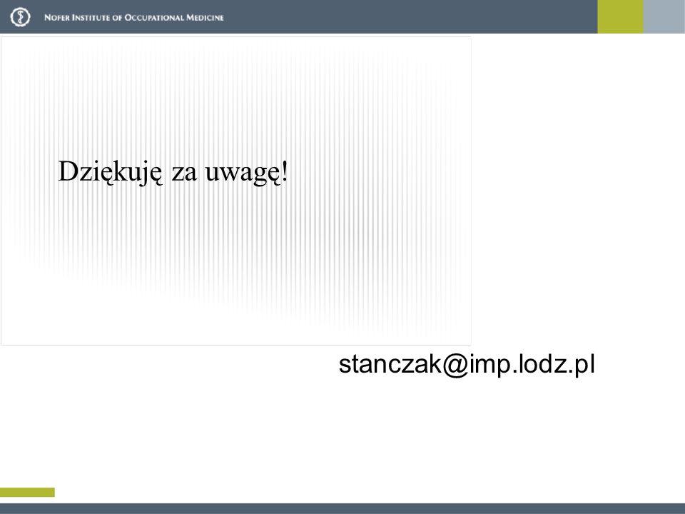 Dziękuję za uwagę! stanczak@imp.lodz.pl