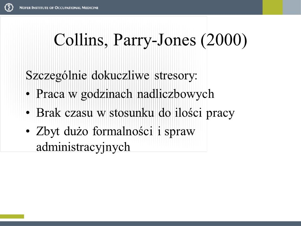 Collins, Parry-Jones (2000)