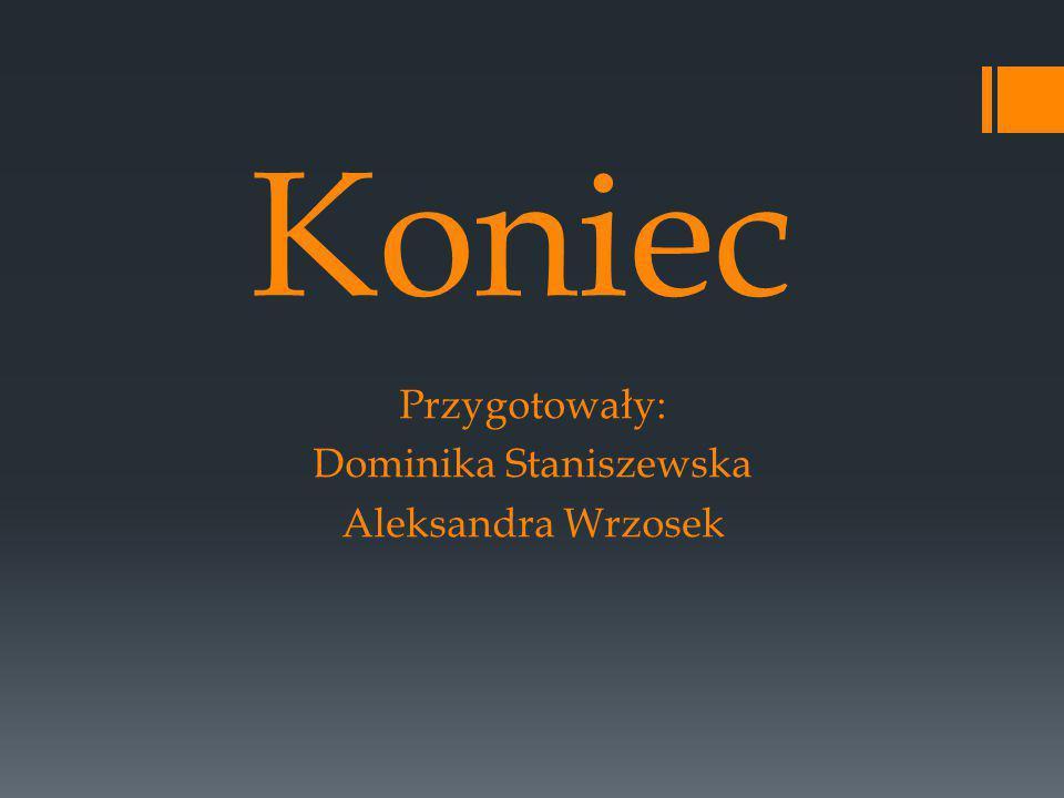 Przygotowały: Dominika Staniszewska Aleksandra Wrzosek
