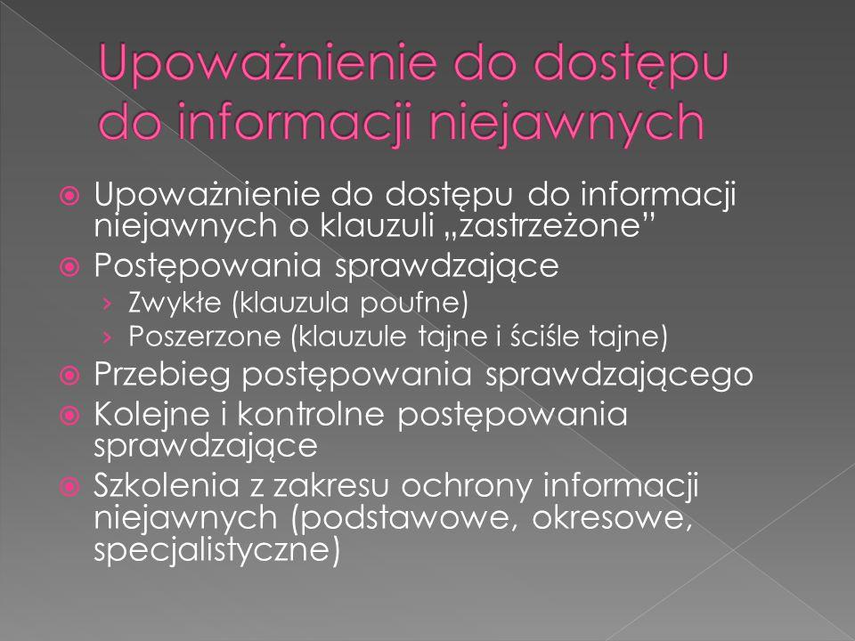 Upoważnienie do dostępu do informacji niejawnych