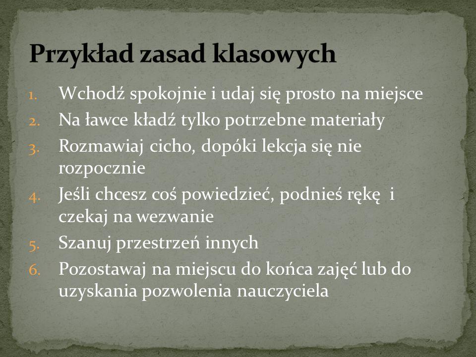 Przykład zasad klasowych