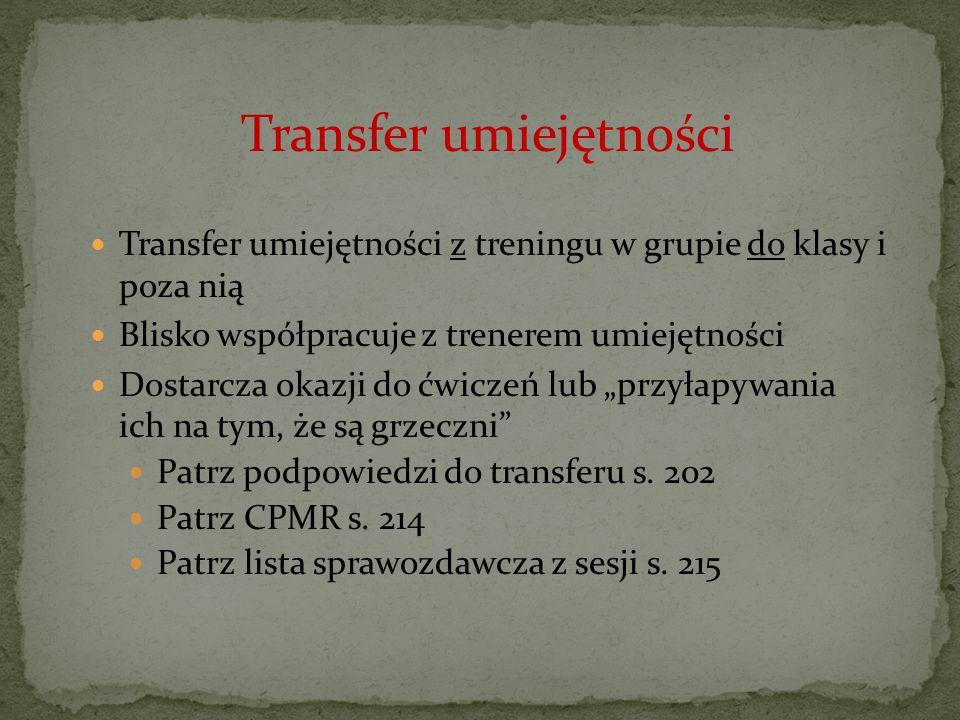 Transfer umiejętności