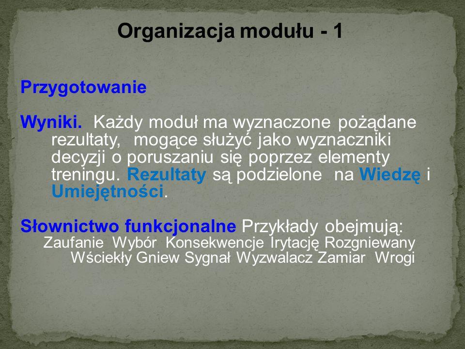 Organizacja modułu - 1 Przygotowanie