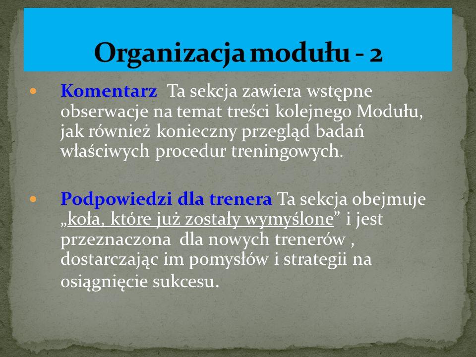 Organizacja modułu - 2