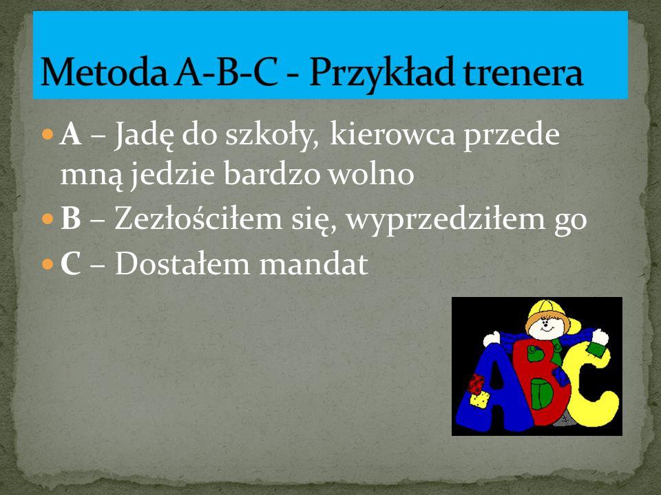 Metoda A-B-C - Przykład trenera